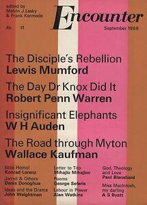 ENCOUNTER-MAGAZINE-September-1966-AUDEN-A-S-BYATT-LEWIS-MUMFORD-GEORGE-SEFERIS