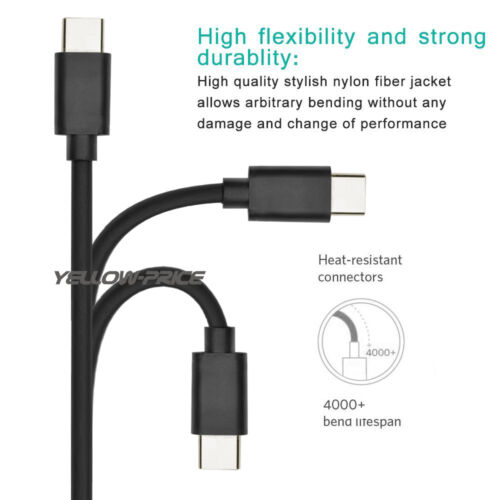USB-C 3.1 Type C Sync Data Charger Cable For Samsung Galaxy S8 S8 Plus /& LG G5