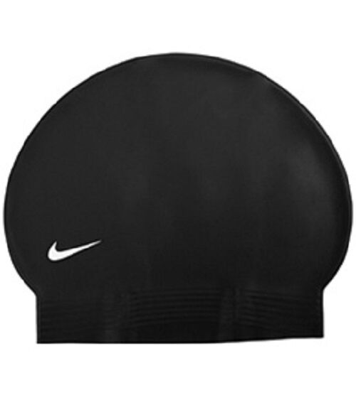 Nike Flat Latex Swim Cap Nik024 Black  6be0ba00935