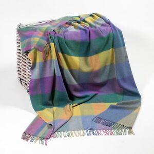 f9e658e0358e6 Multi Color Large Lambswool Irish Blanket by John Hanly Ireland 648 ...