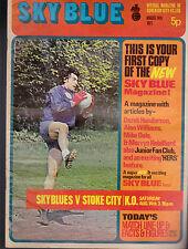 Coventry City Football Club Sky Blue v Stoke City August 14 1971 Magazine