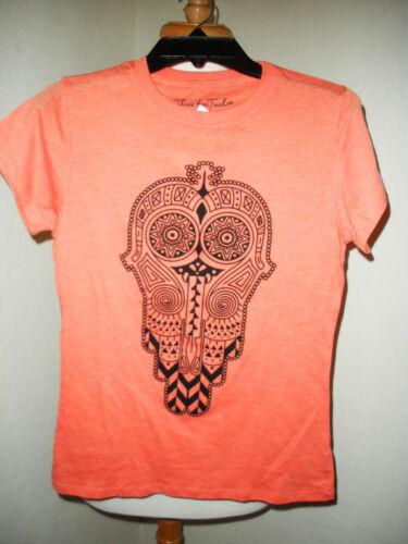 Threefortwelve The Hamsa Fatima/'s Hand Orange T-shirt NEW Size Medium