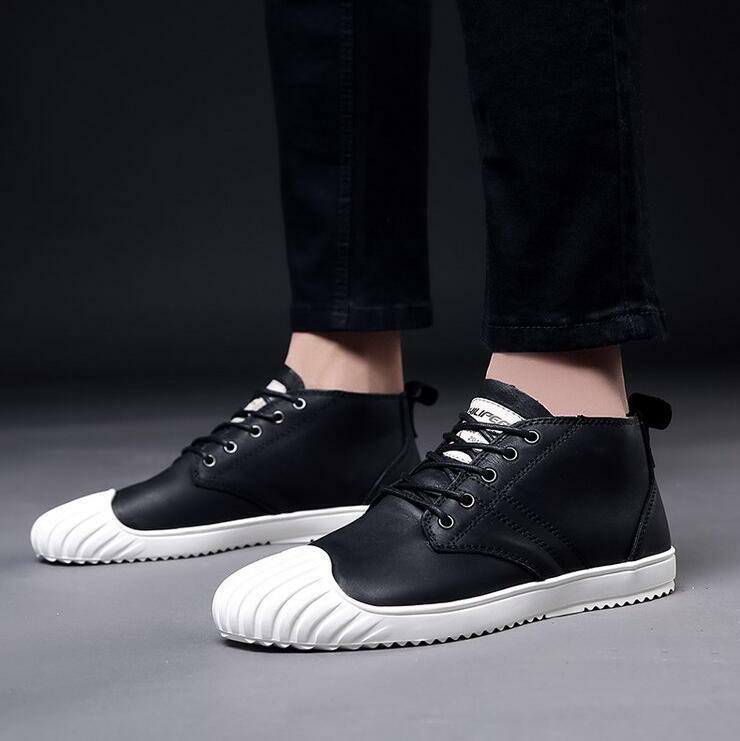 Mens Lace Up Flat Heels Running Sneakers Round Toe Running shoes Casual Fashion