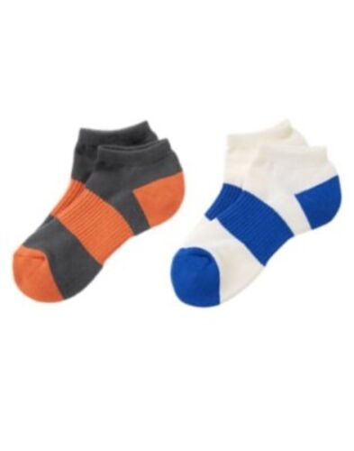 GYMBOREE EVERYDAY ALL STAR ORANGE N BLUE 2-pair OF BOYS SPORT SOCKS S M L NWT