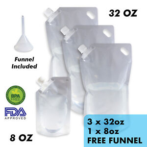 Cruise-Ship-Flask-Kit-Reusable-amp-Concealable-Liquor-Bags-Sneak-or-Smuggle-Booze
