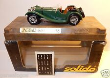 AGE D'OR SOLIDO OLD JAGUAR SS 100 1938 VERT FONCE SIEGES MARRON 1/43 IN BOX b