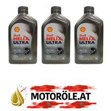 3x1 Liter Shell Helix Ultra Racing 10W-60 Motoröl, ACEA A3/B3/B4 - API SN/CF