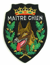 ECUSSON MILITARIA BRODÉ EMBROIDERED PATCH MERESSE MAITRE CHIEN MILITAIRE