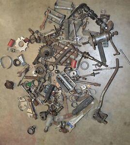 Lot-of-old-vintage-bicycle-bike-parts