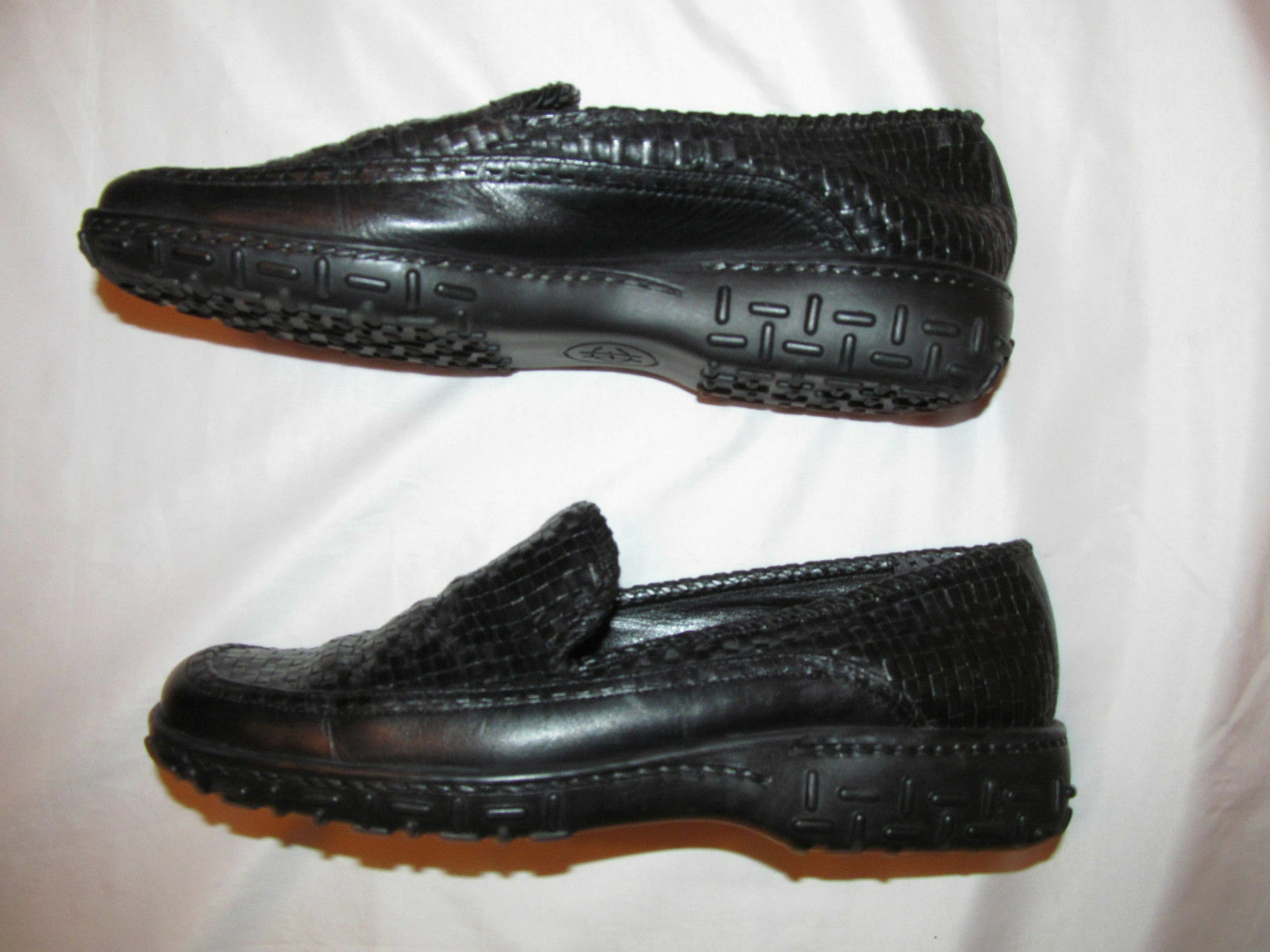 COLE HAAN COUNTRY woven leather leather loafers comfort shoes 8.5 M