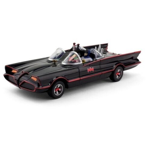 1966 Batmobile with Batman /& Robin Mini Bendable Figs Batman Classic