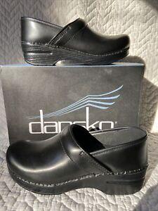 DANSKO  Professional clog Black Cabrio Leather Size 37  Narrow NIB $89 813-02020