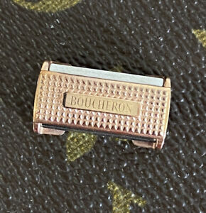 BOUCLE BOUCHERON PLAQUE OR ROSE 19 MM @ GOLD PLATED BUCKLE 19 MM BOUCHERON NEUF