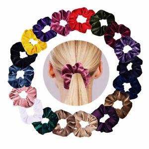 Nouveau-Anneau-De-Cheveux-Chouchou-Femmes-Chouchou-Velours-Corde-elastique
