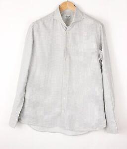 Stenstroms Herren Enganliegend Körper Slim Fit Freizeit Formell Hemd Größe L (41