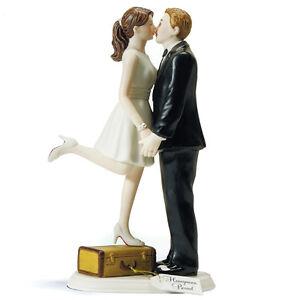 Tortenfigur A Kiss And We Re Off Tortendeko Hochzeitstorte Vintage