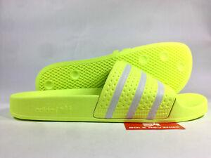 733663740 Image is loading New-Adidas-ADILETTE-Slides-Sandals-Mens-Yellow-White-