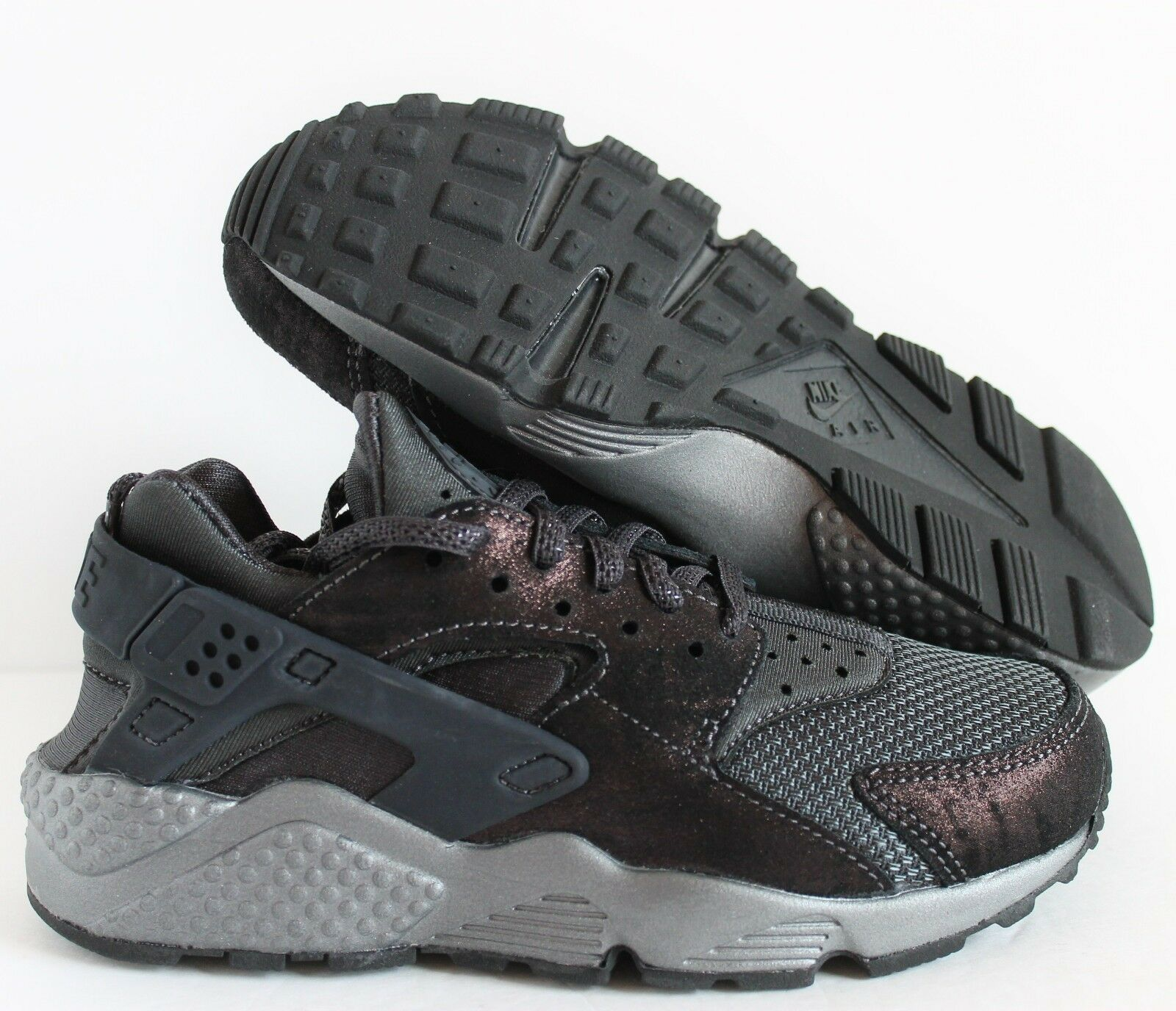 NIKE WOMEN AIR HUARACHE RUN PRM PREMIUM ANTHRACITE-BLACK Price reduction
