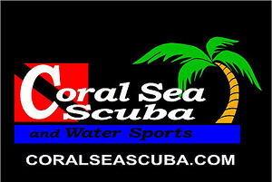 Coral Sea Scuba Logo T-Shirt - Dive -  Black or Gray or White