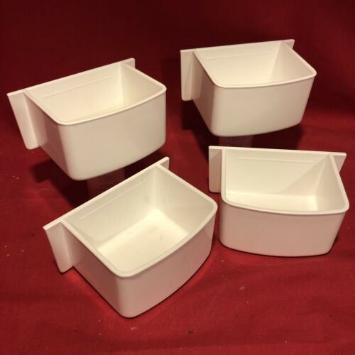 4 x Aviary Cups 11 cm Budgie Cockatiel Water Food Bowl Container Cage Feeder