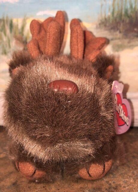 """Puffkins """"Gus"""" Brown Moose NWT Stuffed Plush 4.5"""""""