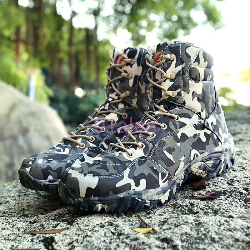 Ejército De Camuflaje Para Hombre A Force De Combate Militar botas Zapatos De Moda Con Cordones Desierto
