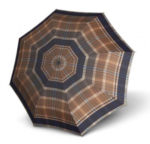 Knirps t.200 MEDIUM DUOMATIC ombrello tasche Ombrello Ombrellone CHECK Marrone Cammello