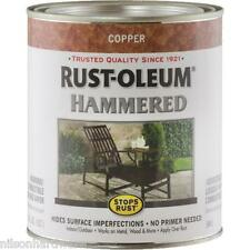 1 Qt Copper Rust-Oleum Gloss Hammered Metal Finish Paint 239074