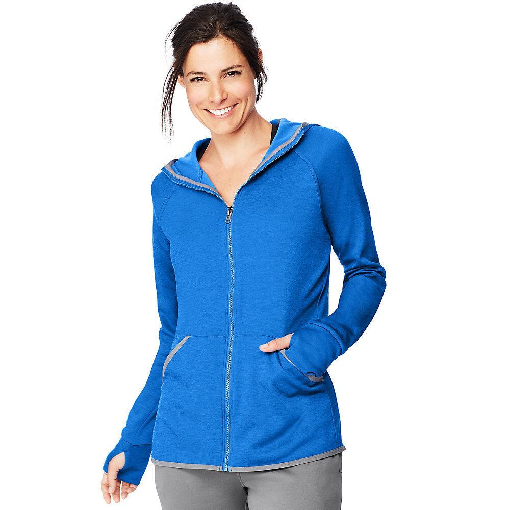 56949fcf064 2 Hanes Sport™ Women s Performance Fleece Zip Zip Zip Up Hoodies O4873  3b96af