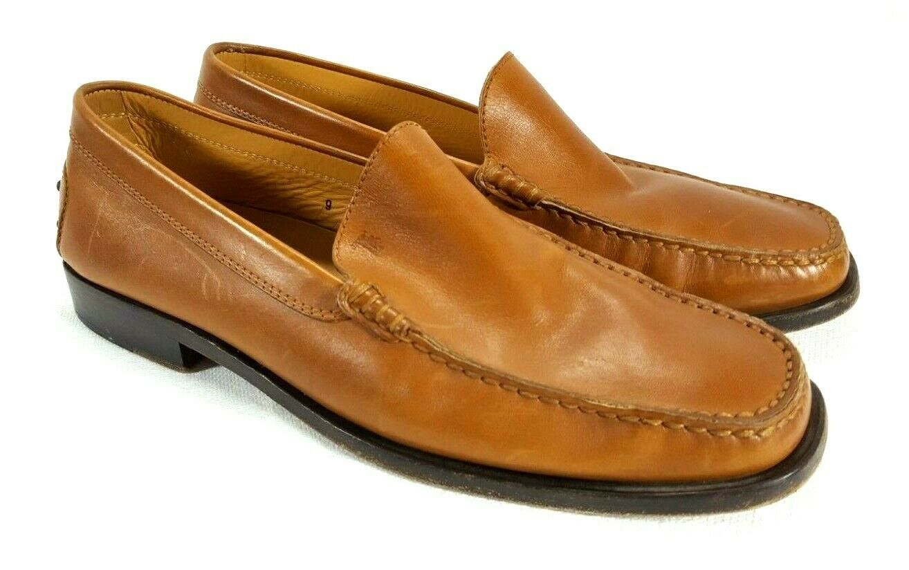 TOD'S Men's Brown Leather Driving Loafers Sz. 9