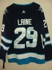 meet d605a 0d0c5 Details about Patrik Laine Signed Autograph Winnipeg Jets Jersey NHL Hockey  2018-19 style BAS