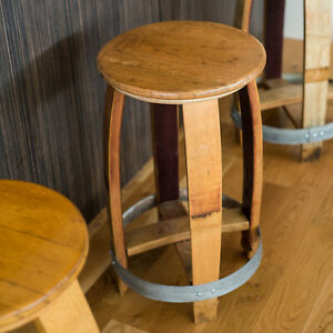 Wine Barrel Counter Stool By Alpine Wine Design Natural