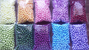10 Farben Billigverkauf 50% Ca.5-8mm Styropor Kugeln Popup,auftriebskörper