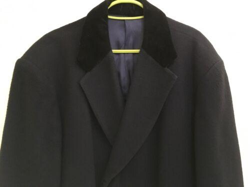 l 90 Velvet Made Cappotto In Collar uomo 42 Cashmere Scotland Navy Size Pp7wA7Cq