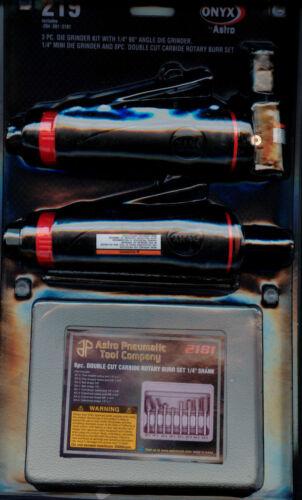 ONYX Die Grinder Kit w 1//4 Inch 90° Angle Die Grinder,Die Grinder /&8 Pc Burr Set