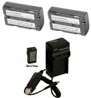2 Batteries +charger For Panasonic Pv-dv400d Pv-dv401 Pv-dv402 Pv-dv600 Pv-dv601