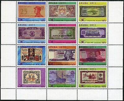 Aruba 2011 Papiergeld Ausstellung Paper Money Banknotes 563-574 Postfrisch Mnh Kaufen Sie Immer Gut