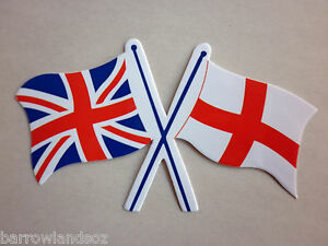 Union-Jack-England-Crossed-Flags-Car-Sticker-Decal-Gift-or-Souvenir