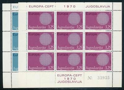 243222 Nr.1379-80** Europa Cept Hoher Standard In QualitäT Und Hygiene Jugoslawien Klbg