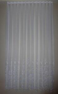 Gardine Store Christine gebogt 230 cm hoch Vorhang weiß | eBay