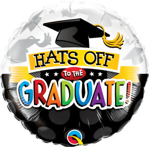 GRADUATION-PARTY-SUPPLIES-18-034-HATS-OFF-TO-THE-GRADUATE-QUALATEX-FOIL-BALLOON