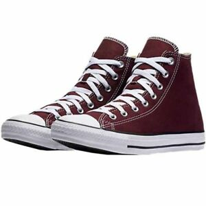 00eb249e4ed089 CONVERSE CHUCK TAYLOR ALL STAR HI CANVAS MEN SHOES BURGUNDY 139784F ...