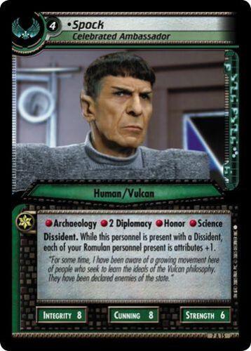 Celebrated Archive FOIL 7A15 Star Trek CCG 2E Strange New Worlds Spock