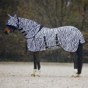 Zebra Stripe Fly Rug Mask Insect Bug