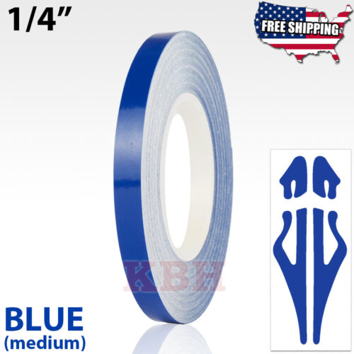 "1//4/"" Roll Vinyl Pinstriping Pinstripe Soild Line Tape Sticker 6mm NAVY BLUE"