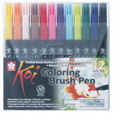 SAKURA Pinselstift Koi Coloring Brush, 12er Etui Pinselstifte Zeichnungen farbig