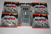 42 Gilltte Atra Plus Cartridges Refills Metal Razor Shavert Blades Handle Usa
