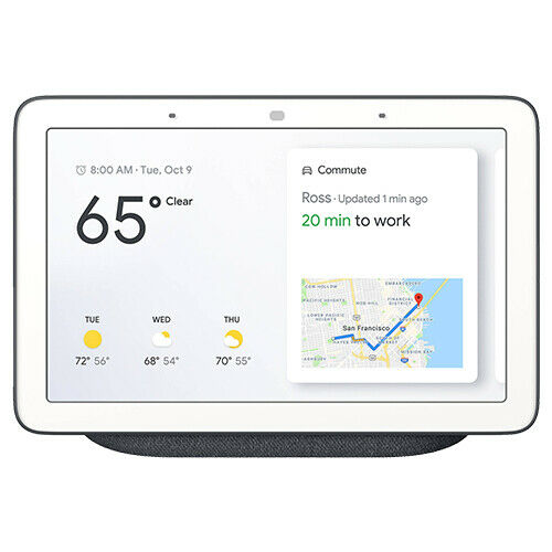 Google Home Hub with Google Assistant Chalk or Charcoal - GA00515-US GA00516-US