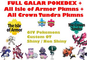 Pokemon-Sword-amp-Shield-Crown-Tundra-Isle-of-Armor-Complete-Pokedex-6IV-Shiny