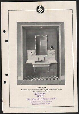 Gut Ausgebildete MÜnster, Brief + Prospekte 1933, Marmor- Und Glas-industrie Chr. Mosecker